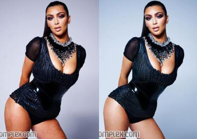 Kim Kardashian before and after photoshop