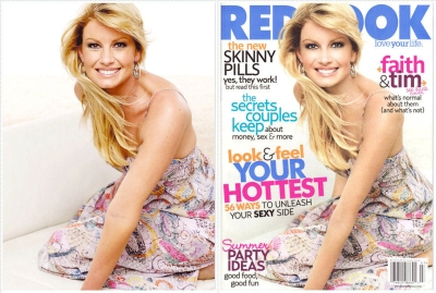 Faith Hill before and after photoshop