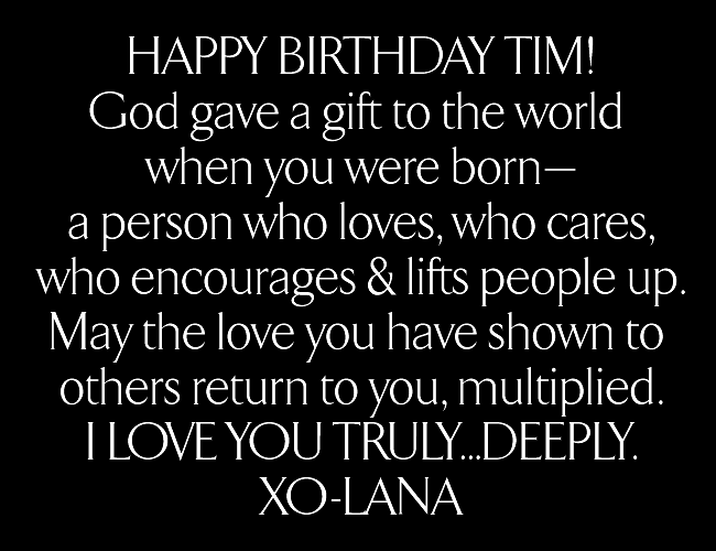 Happy Birthday Tim Resultsby